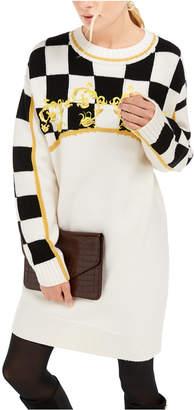 Escada Sport Checkered Sweater Dress