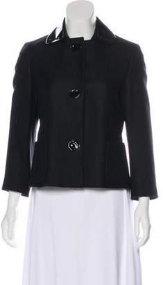 Akris Punto Wool Textured Short Coat