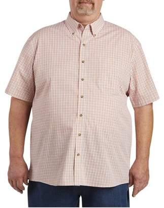 Canyon Ridge Men's Big & Tall Easy Care Short Sleeve Plaid Shirt, up to size 7XL