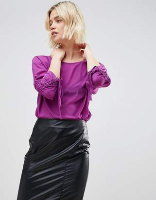 Unique21 Unique 21 Purple Chiffon Top