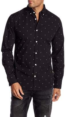 Jack and Jones Porter Long Sleeve Print Slim Fit Woven Shirt