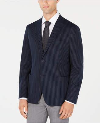 Calvin Klein Men Slim-Fit Stretch Midnight Navy Stripe Sport Coat