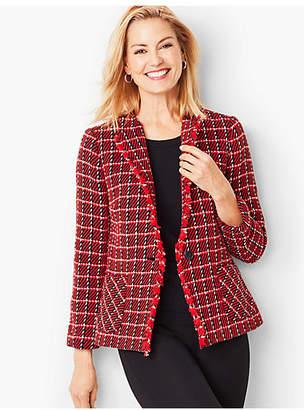Talbots Twill Weave Check Jacket
