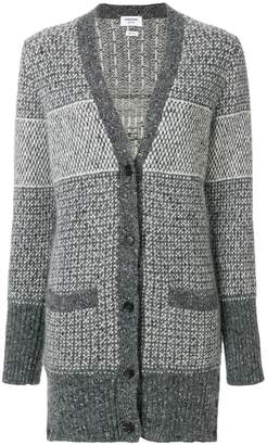 Thom Browne Tweed Elephant Toy Icon Long Cardigan