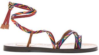 Valentino Embroidered Santeria Sandals