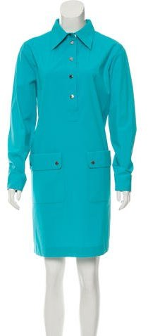 MICHAEL Michael KorsMichael Kors Collection Button-Up Shirt Dress