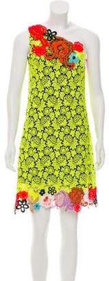 Christopher Kane One-Shoulder Lace Dress w/ Tags Yellow One-Shoulder Lace Dress w/ Tags