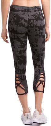 Jockey Women's Sport Tie-Dye Macrame Midrise Capri Leggings