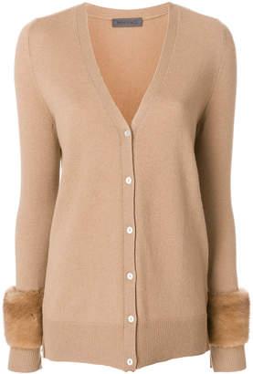 Simonetta Ravizza fur-trim knitted cardigan