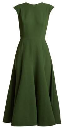 Emilia Wickstead Denver crepe A-line midi dress