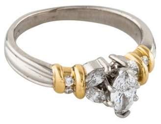 Ring Marquise Diamond Engagement yellow Marquise Diamond Engagement