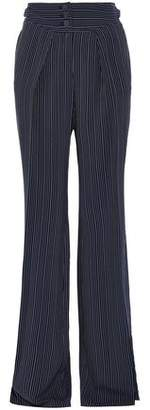 Roberto Cavalli Striped Silk-Blend Wide-Leg Pants