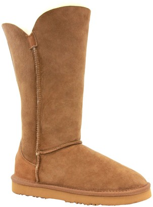 Lamo Suede and Sheepskin Boots - Liberty 12""