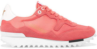 Golden Goose Starland Satin, Suede And Leather Sneakers - Pink