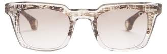 Blake Kuwahara - Newell Rectangle Frame Acetate Sunglasses - Mens - Clear