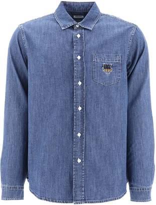 Kenzo Denim Embroiderd Shirt
