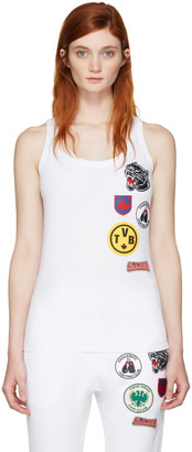 Dsquared2 White Patches Tank Top $255 thestylecure.com