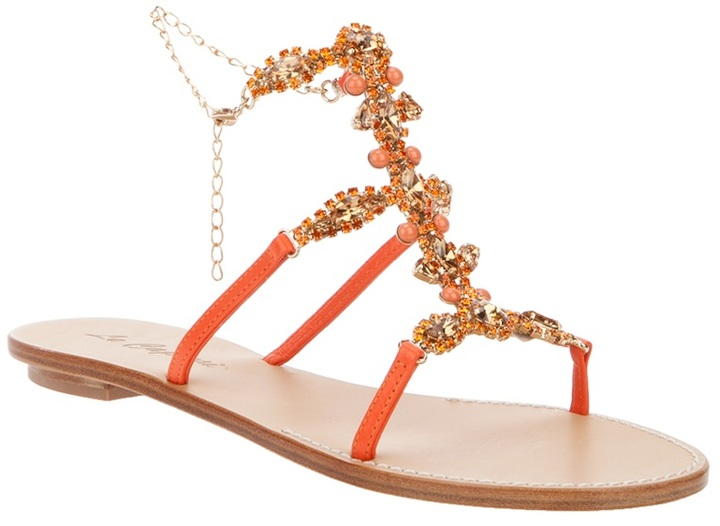 Le Capresi jewel embellished sandal