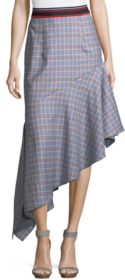 Milly Charlotte Check Suiting Skirt