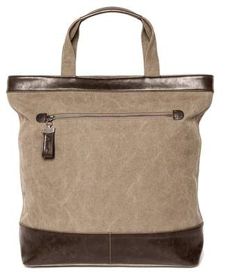 Co Brouk & Excursion Khaki Canvas & Vegan Leather Tote