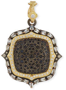Armenta Old World Two-Tone Diamond & Black Sapphire Pendant Enhancer