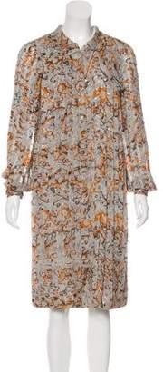 Peter Som Pleated Midi Dress