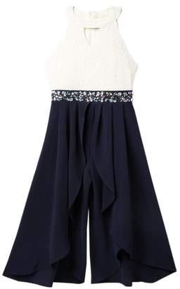 Love, Jayne Sleeveless Cleo Embellished Jumpsuit (Big Girls)