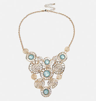 Avenue Cluster Statement Necklace