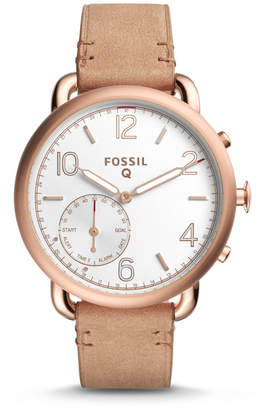 Fossil REFURBISHED Hybrid Smartwatch - Q Tailor Light Brown Leather