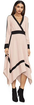 BCBGMAXAZRIA Bambi Color-Blocked Wrap Dress