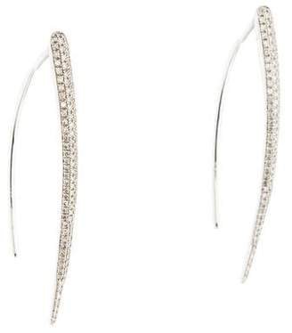Anne Sisteron 14K Diamond Wishbone Earrings