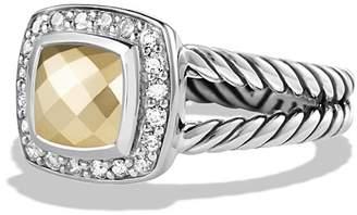 David Yurman Petite Albion Ring with 18K Gold Dome and Diamonds