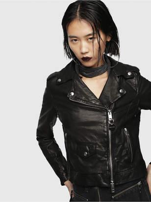 Diesel Leather jackets 0PASZ - Black - XS