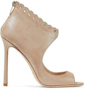 Jimmy Choo Blythe 110 Scalloped Metallic Suede Sandals