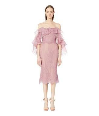 Marchesa Lace Cocktail Dress