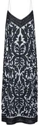 Ganni Sequin-Embellished Tulle Midi Dress