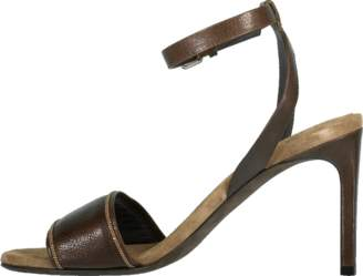 Brunello Cucinelli Leather Ankle Strap Skinny Sandal