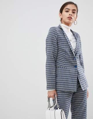 UNIQUE21 Unique21 tailored checked blazer