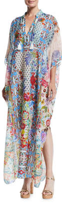 Johnny Was Juniper Printed Long Coverup Kaftan