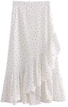 Goodnight Macaroon 'Eden' Frill Dotted Wrap Skirt