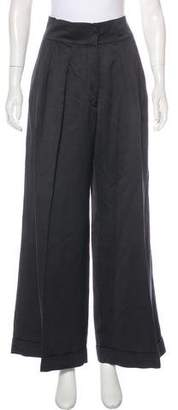 Dries Van Noten High-Rise Linen-Blend Pants