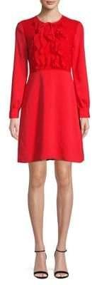 Isaac Mizrahi IMNYC Fit-And-Flare Ruffle Dress