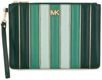 MICHAEL Michael Kors striped clutch bag
