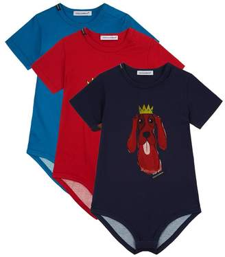Dolce & Gabbana Year Of The Dog Bodysuit Set (Set of 3)