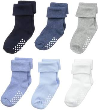 Jefferies Socks Unisex-Baby Non-Skid Turn Cuff 6 Pair Pack
