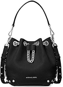 MICHAEL Michael Kors Women's Small Alanis Leather Bucket Bag