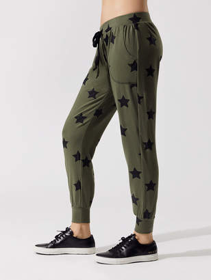 Army Green Foil Printed Jogger