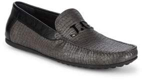 John Galliano Embossed Leather Driver Shoe