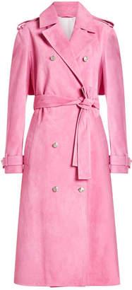 Calvin Klein Suede Trench Coat