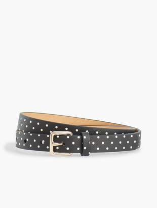 Talbots Plus Size Dot Faux-Leather Belt